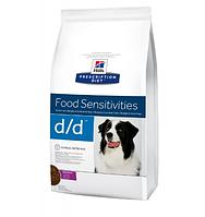 Сухой корм Hills PD Canine D/D с уткой для собак при пищевой аллергии или непереносимости 12 кг