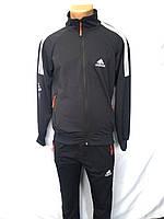 Мужской спортивный костюм весна-осень (цвета: темно синий,серый) оптом, фото 1