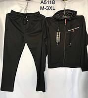 Мужской спортивный костюм 5118 весна-осень (цвета: черный, темно синий,серый) оптом, фото 1