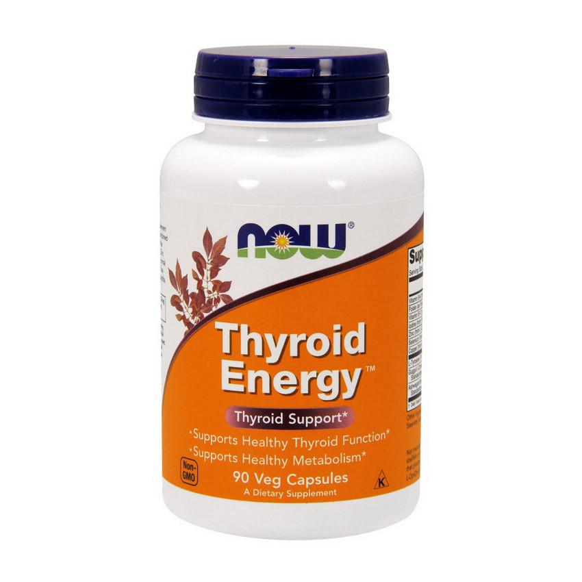 Здоровье щитовидной железы NOW Thyroid Energy 90 veg caps