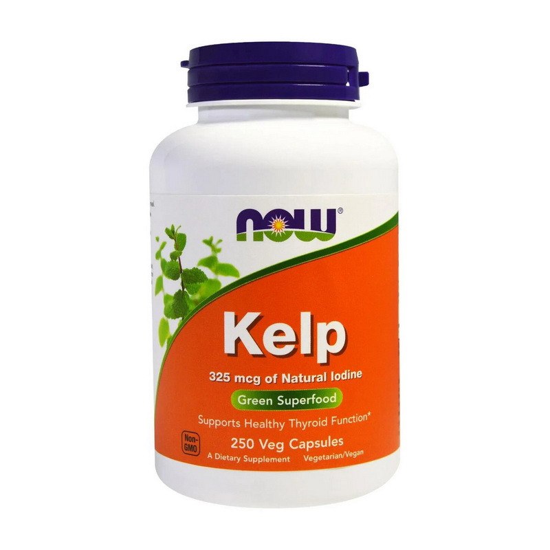 Келп (морські мінерали) NOW Kelp 325 mcg 250 veg caps