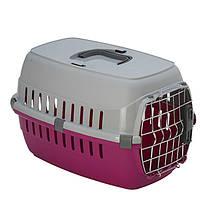 Переноска Moderna МОДЕРНА для собак и кошек с металлической дверью IATA, ярко-розовый | 51х31х34 см