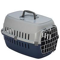 Переноска Moderna МОДЕРНА для собак и кошек с металлической дверью, черничный | 51х31х34 см