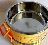 Термо ланч бокс для еды 3 секции 20*15см, фото 3
