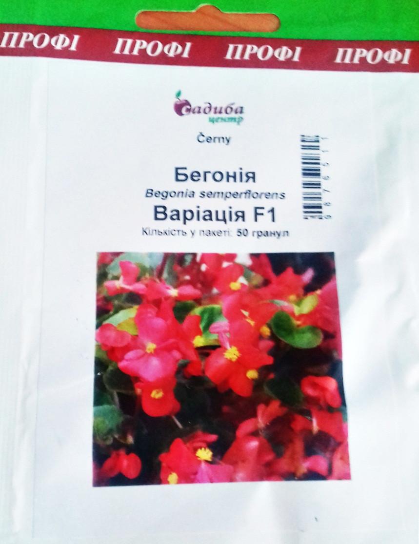 "Семена цветов Бегония Вариация F1 , 50 шт."" Бадваси""Украина."