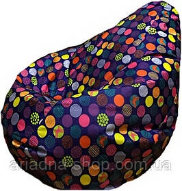 """Крісло - груша з принтом """"Кольорові круги"""" , М-size"""