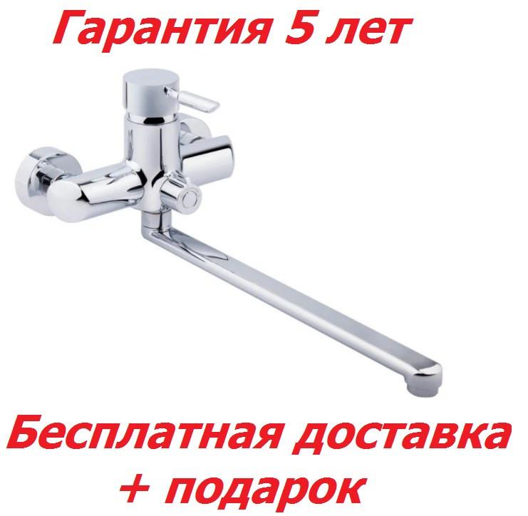 Однорычажный латунный смеситель для ванны цвет хром Q-Tap Elit СRM 005 NEW