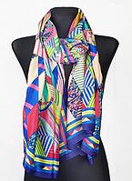 Шелковый шарф Fashion Колет 180*90 см синий