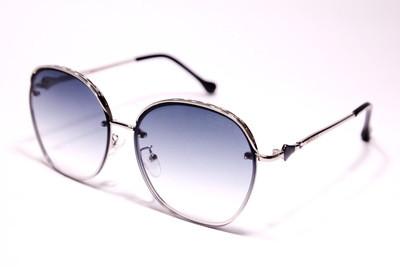 Солнцезащитные безоправные женские очки, с серo-фиолетовыми линзами