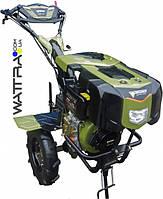 """Культиватор дизельный Forte 1050 LUX, колеса 10"""", 6,5 л.с. (зеленый) мотоблок"""
