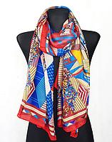 Шелковый шарф Fashion Колет 180*90 см красный