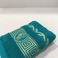 Махровое лицевое полотенце Mahrof Store 430 гр/м2 50х90 см морская волна