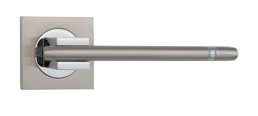 Ручка дверная SIBA Kristal Z29 никель матовый/хром