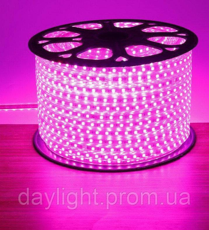 Уличная светодиодная led лента влаостойкая розовый свет (9.6вт/м 120д 3528)