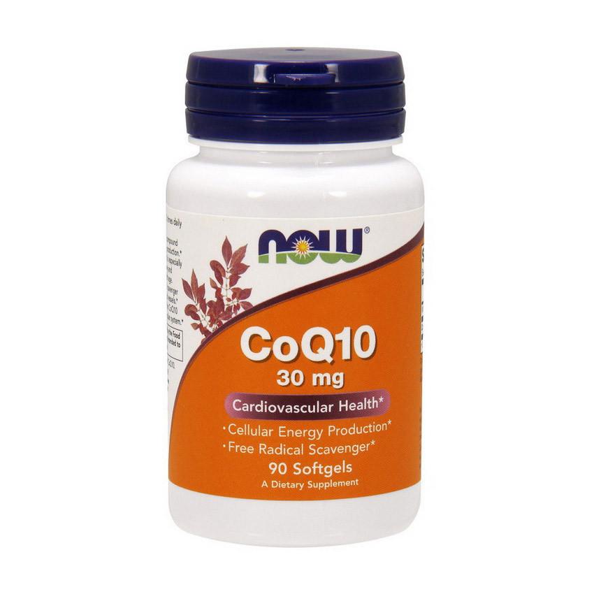 Коензим Q10 NOW CoQ10 30 mg (90 softgels)
