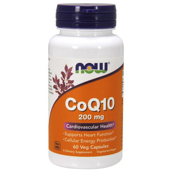 Коэнзим Q10 NOW CoQ10 200 mg 60 veg caps