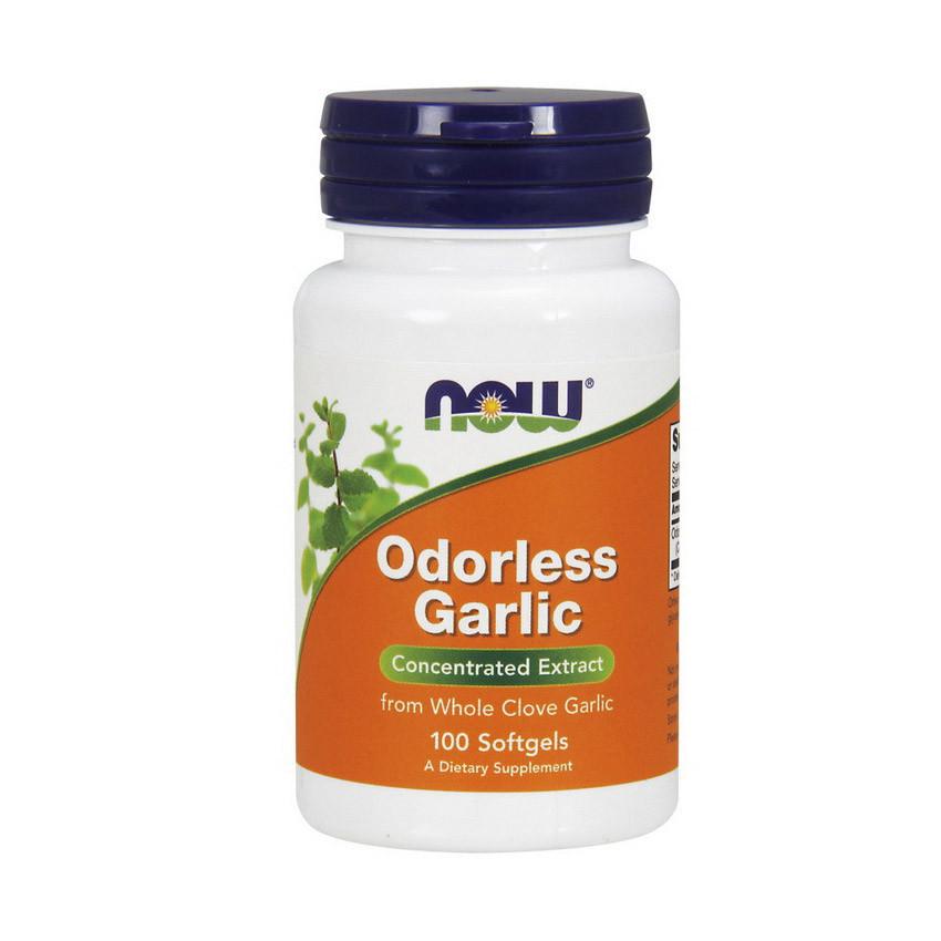 Екстракт часникового масла NOW Odorless Garlic 100 softgels