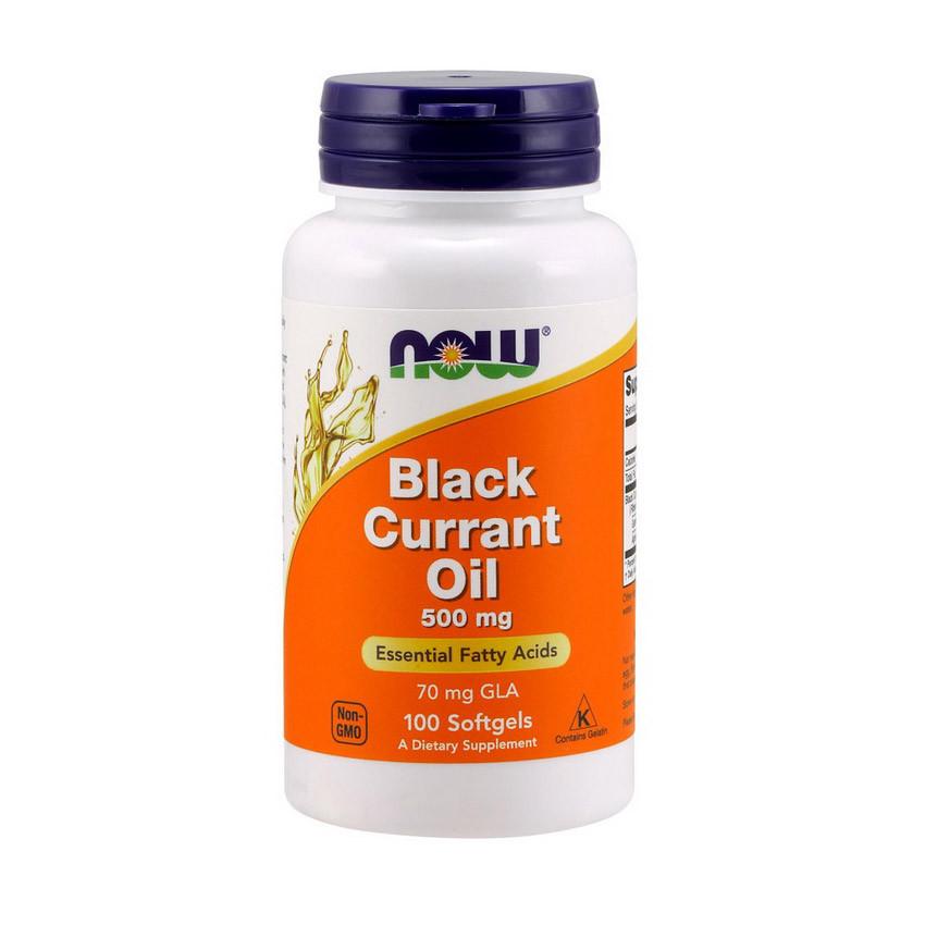 Гамма-ліноленова кислота NOW Black Currant Oil 500 mg 100 softgels