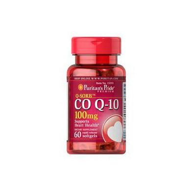 Коэнзим Q10 Puritan's Pride CO Q-10 100 mg 60 softgels