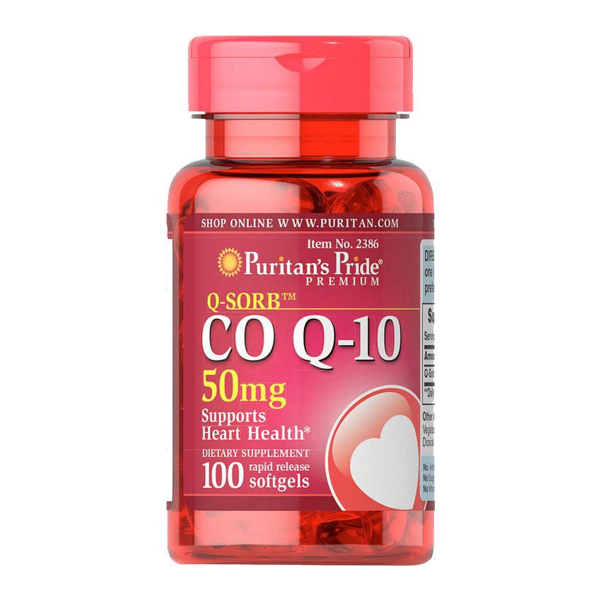 Коензим Q-10 Puritan's Pride CO Q-10 50 mg 50 softgels