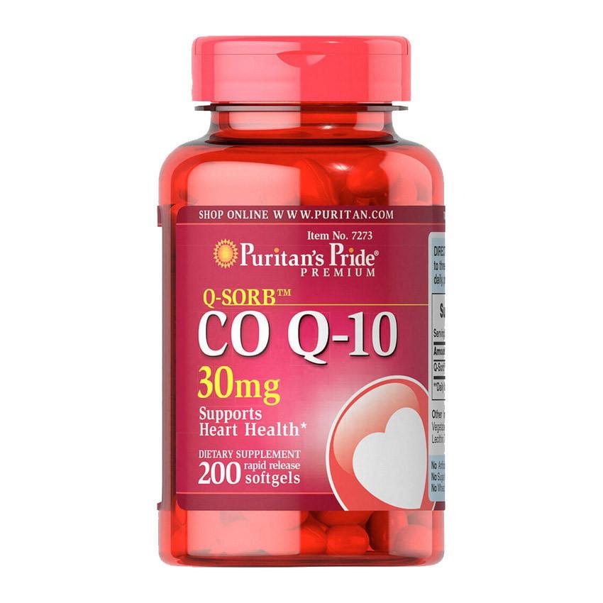 Коэнзим Q-10 Puritan's Pride Q-SORB Co Q-10 30 mg 200 softgels