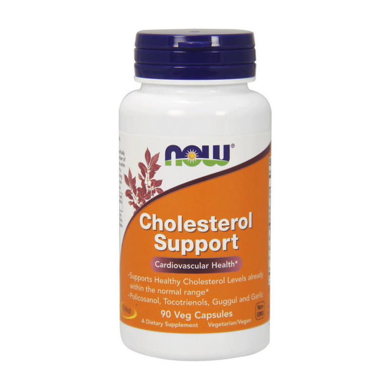 Нормализация холестерина в крови NOW Cholesterol Support 90 caps