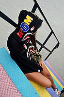 Толстовка жіноча в стилі Bape Shark Camo, фото 1