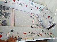 Высокие плотные бортики (защита) в детскую кроватку. Чехлы съёмные