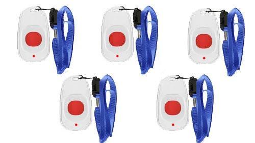 Фото: кнопки вызова персонала с ремешком RECS RC-11 - 5 штук - комплект системы вызова RECS №71