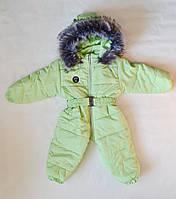 Детский зимний комбинезон человечек унисекс 1-2 года, цельный, для девочек и мальчиков, фото 1