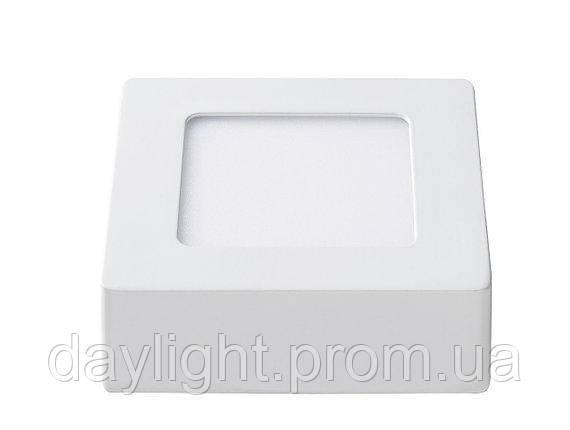 Накладной потолочный светильник квадрат 6W