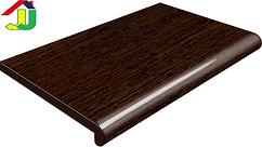 Подоконник Plastolit Венге Глянец 100 мм термостойкое покрытие, влагостойкий, устойчивый к царапинам, для окон