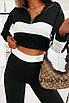 Женский спортивный костюм из двунитки топ под горло и брюки с лампасами, фото 5