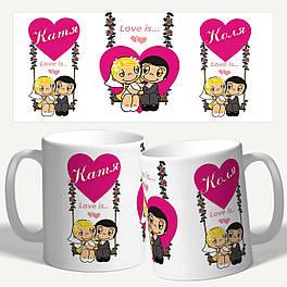 """Чашка с принтом """"Love IS... Любовь это..."""""""