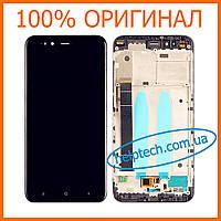 Оригинальный дисплей Xiaomi Mi A1 с сенсорным экраном, с рамкой, Black