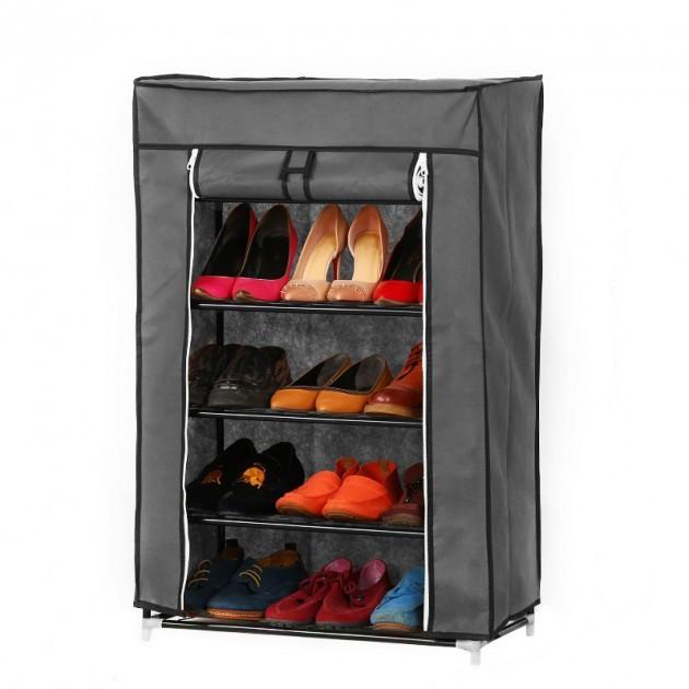 Стильный шкаф-органайзер тканевый для обуви складной «5556»