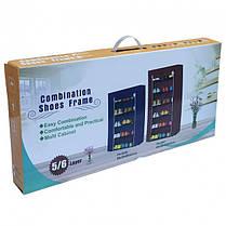 Стильный шкаф-органайзер тканевый для обуви складной «5556», фото 3