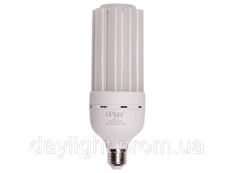 Лампа светодиодная 27W 6500k E27 Luxel Premium