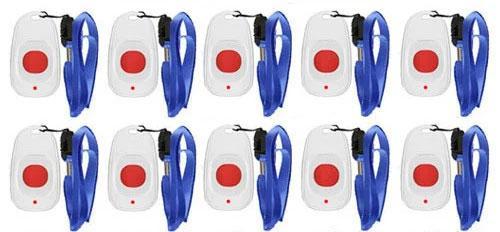 Фото: кнопки вызова персонала с ремешком RECS RC-11 - 10 штук - комплект системы вызова RECS №72