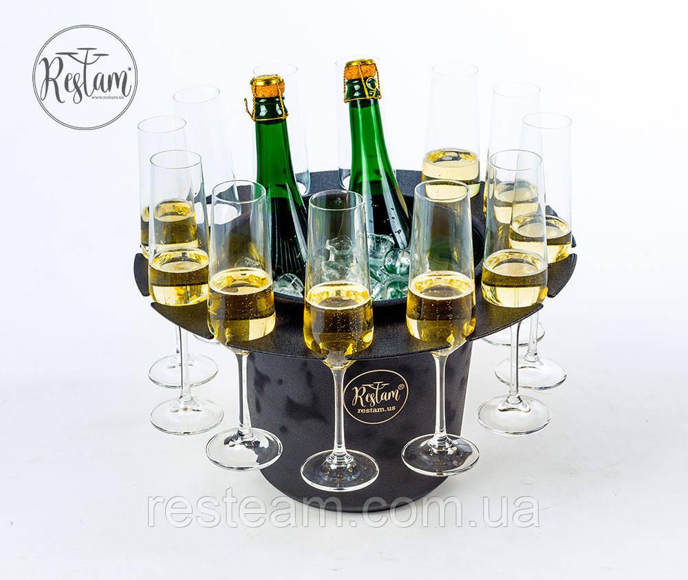 Подставка Restam Ice Hat ведро для напитков с держателями для бокалов