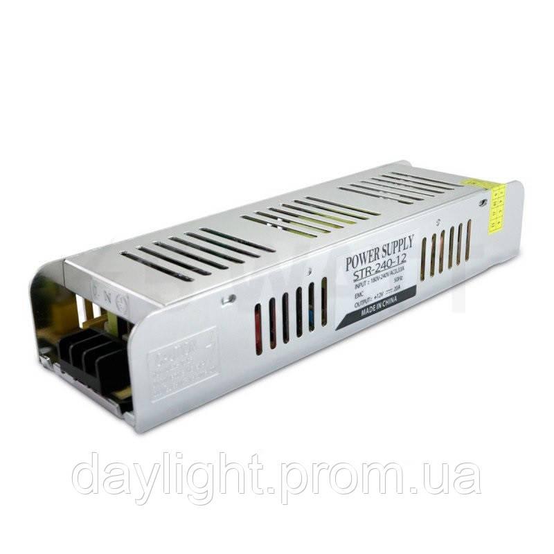Блок питания 12v 240W 20A STR для светодиодной ленты