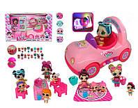 Игровой набор с куклой для девочки ТМ 929 с автомобилем и кухонной мебелью (аналог LOL) Kiki