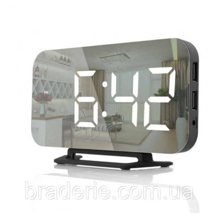 Настольные зеркальные часы DS-3625 с подсветкой