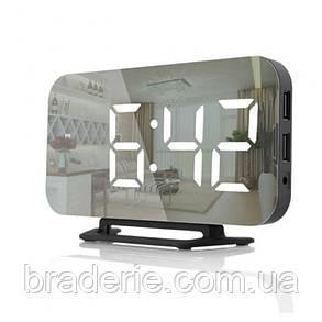 Настольные зеркальные часы DS-3625 с подсветкой, фото 2