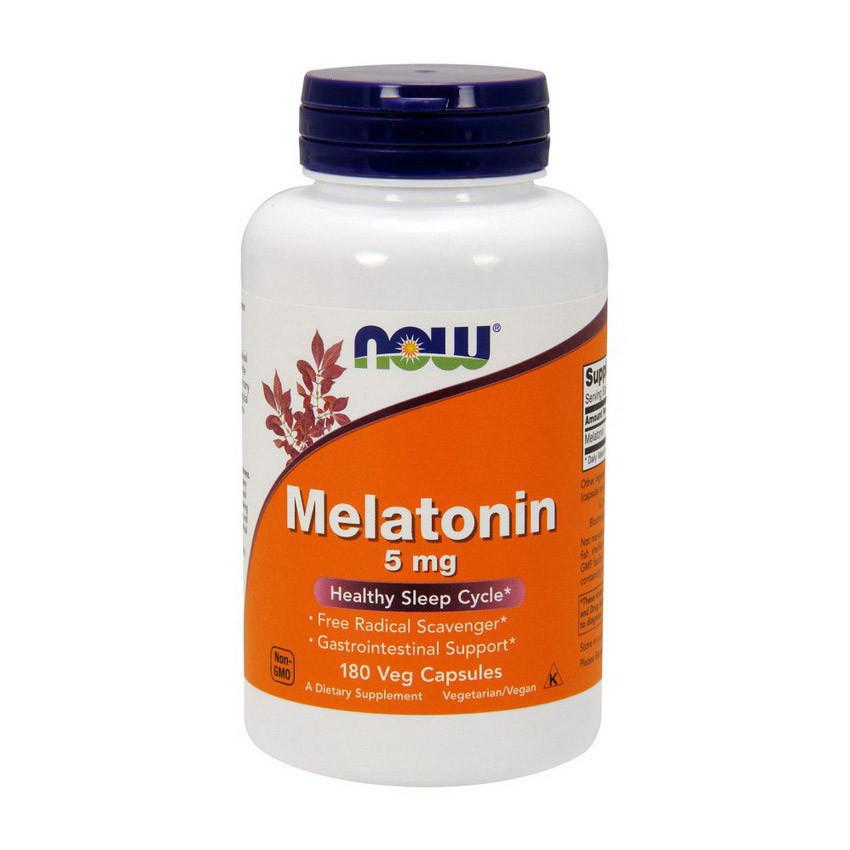 Мелатонін NOW Melatonin 5 mg (caps 180)