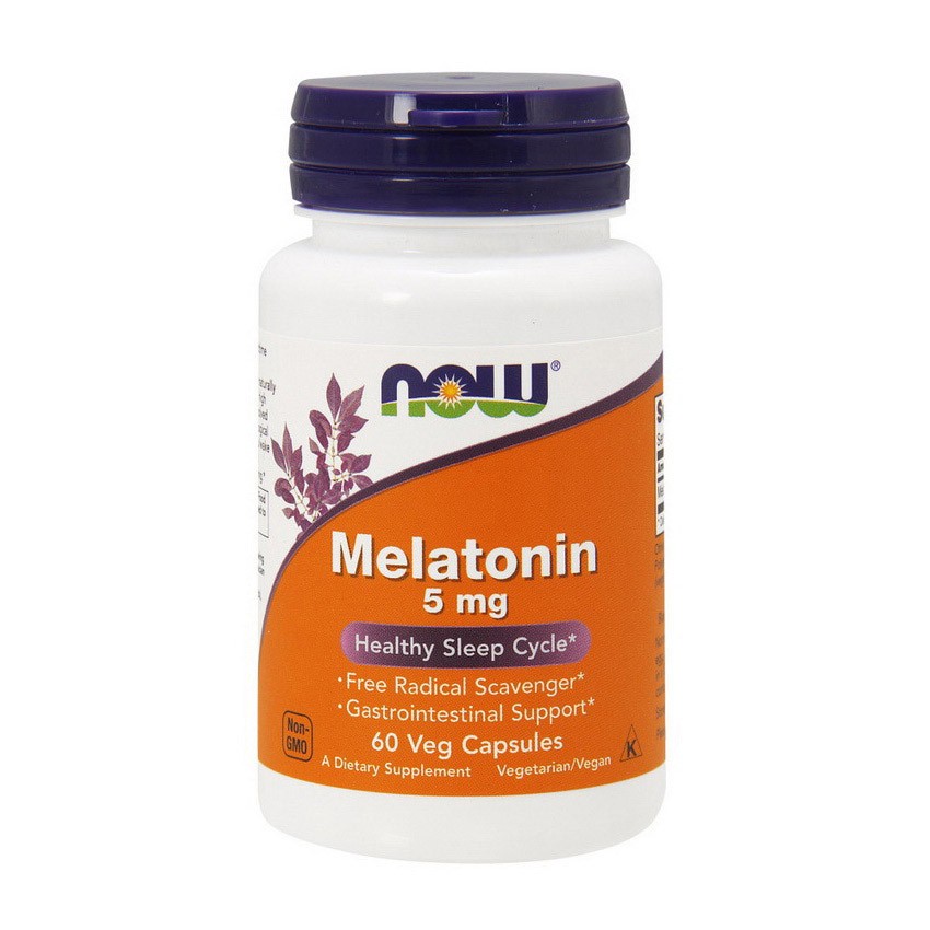 Мелатонін NOW Melatonin 5 mg (60 caps)