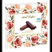Шоколад Maitre Truffout Grazioso Австрия 200г (4 вкуса в упаковке ...кофе, нуга, пралине и темный шоколад, фото 1