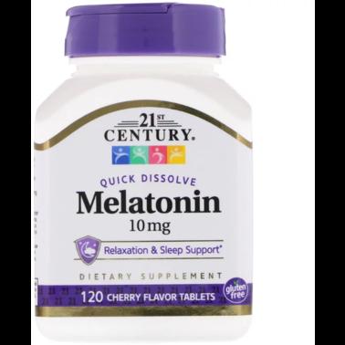 Мелатонин 21st Century Melatonin 10 mg 120 tabs для сна