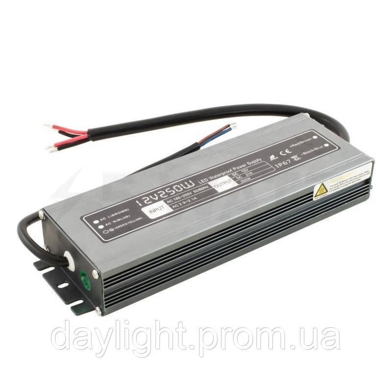 Блок питания 12v герметичный 250W 21A WBP для светодиодной ленты
