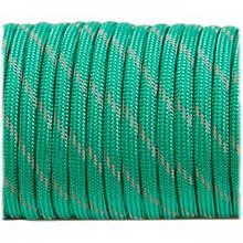 Paracord 550, reflective X3 emerald green #r3086 (светоотражающий)